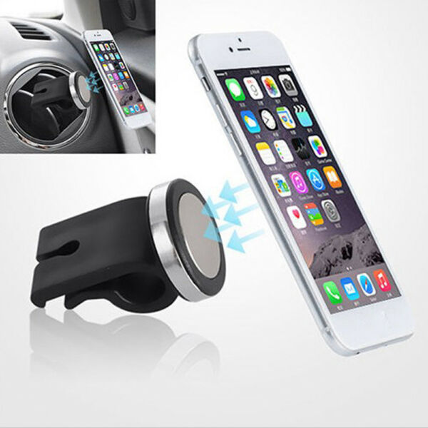 1x SUV Car Air Vent Magnetic Phone GPS MP3 Holder Mount Stand Black Accessories