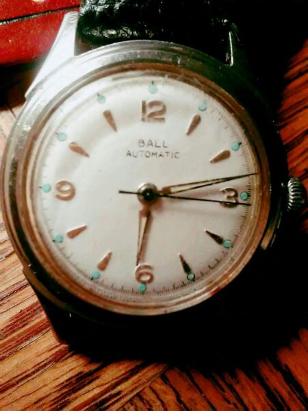 Rare Vintage Ball 17J Automatic Mens SS Case Working Watch