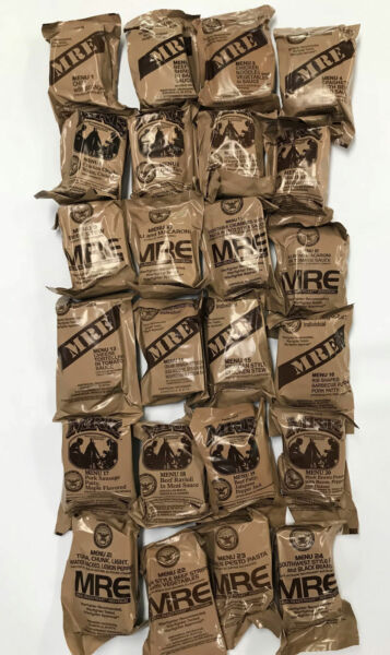 Military Food Rations Individual MREs Meals Ready to Eat Choose Menu 320 Inspec