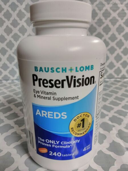 Bausch Lomb Preservision Areds Eye Vitamin Mineral Supplement 240 Tablets 0120