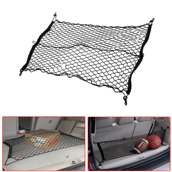1 Set Polypropylene+NR New Great Car SUV Trunk Rear Cargo Storage Organizer Net