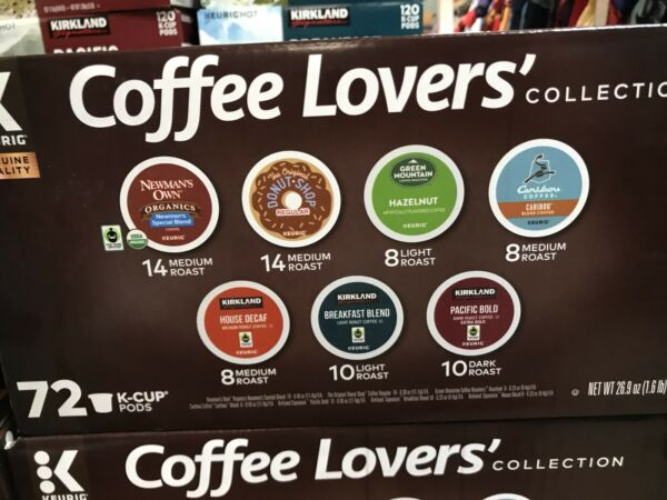 Keurig Coffee Lovers Collection 7 Variety Pack 72 Count K-cups Kirkland Caribou