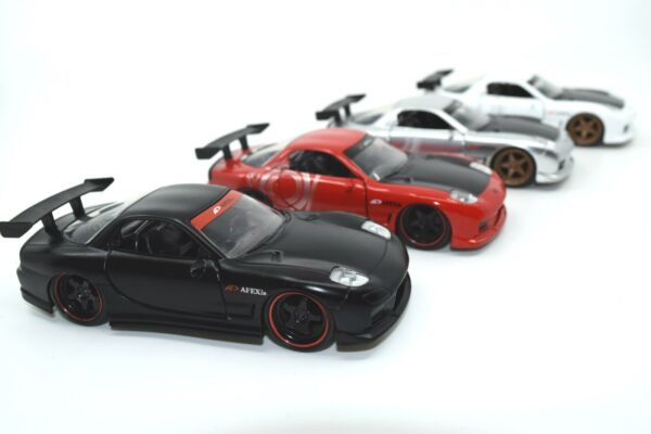 1993 Mazda RX 7 JDM Tuners 5.25quot; METALS Die Cast Pull Back 1:32 Jada Toy
