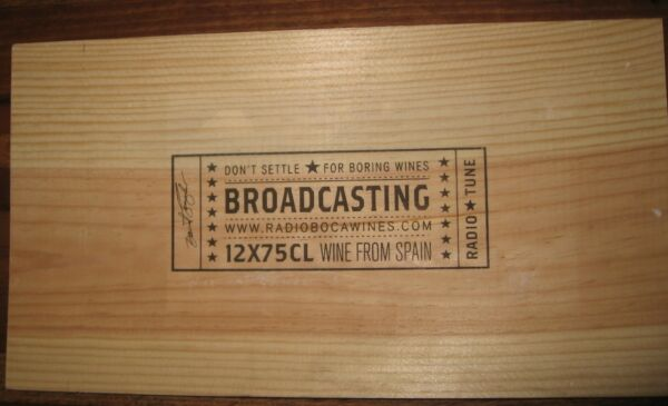 1 Wood Wine End Panel Box Case Crate Radio Wines