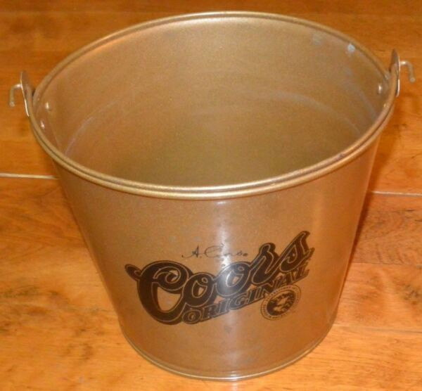 Coors Original Beer and Ice Bucket  Pail - FAIR Condition with Spots All Over