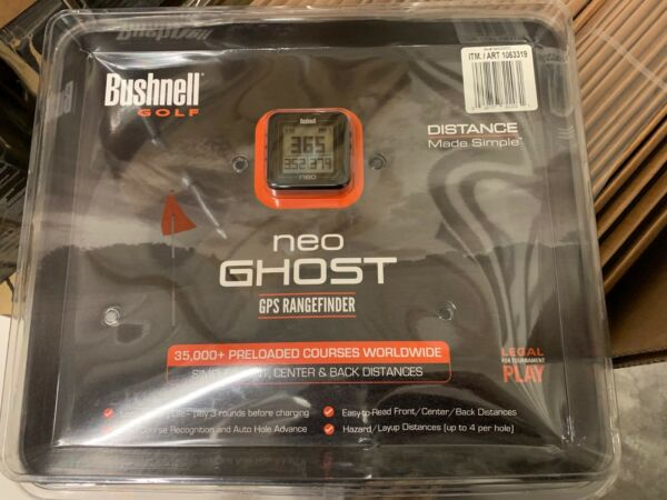 New   Bushnell  NEO Ghost Golf GPS/Rangefinder, BLACK 368220
