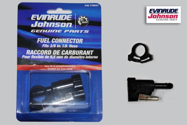 New Johnson Evinrude OMC 3 8quot; Fuel Connector Kit 775641