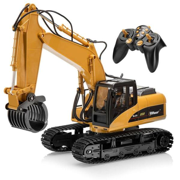 RC Construction Excavator Vehicle Tractor Remote Control Metal Fork Toy Kid RC