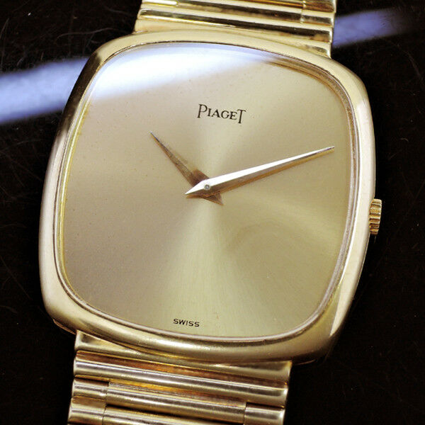 PIAGET YELLOW GOLD HAND WINDING GOLD DIAL ANTIQUE MODEL 100% AUTHENTIC IT4525