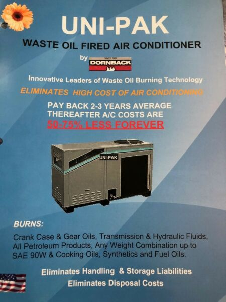 AIR CONDITIONER  WASTE OIL FIRED  50-75% SAVING IN COOLING COST