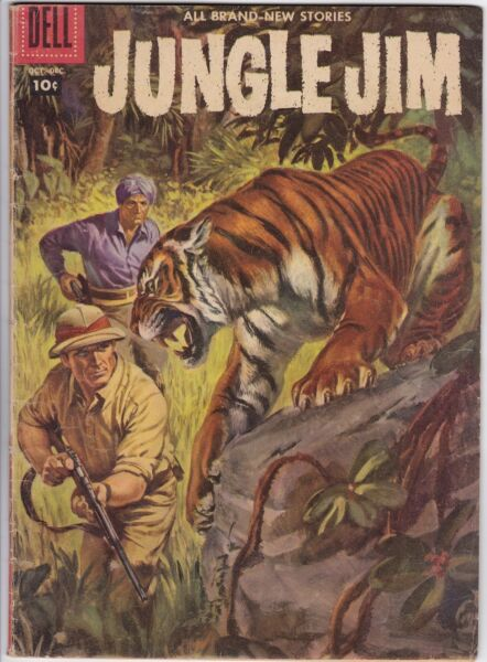 JUNGLE JIM # 14 (DELL) GAYLORD DUBOIS story  CRAIG FLESSEL art - PAINTED COVER