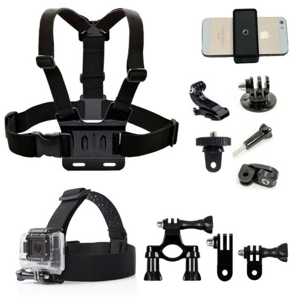 Action Camera Accessories Kit for Sony Cam/FITFORT/Anmade M3/YI 4K+4K,Lite/Gopro