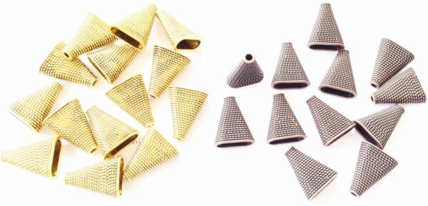 24 fine Fancy Beads Cone jewelry Supplies CHOOSE COLOR $7.99