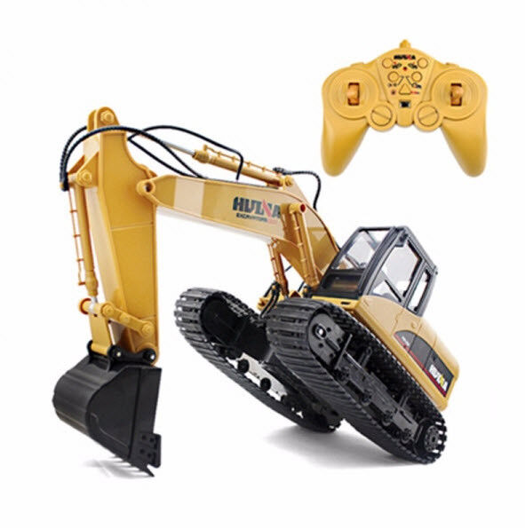 Remote Control Excavator RC Toy Tractor Bulldozer Truck Metal Digger 15 Channel