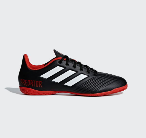 MENS Adidas Predator Tango 18.4 IN Indoor Soccer Cleats DB2136 Black White Red