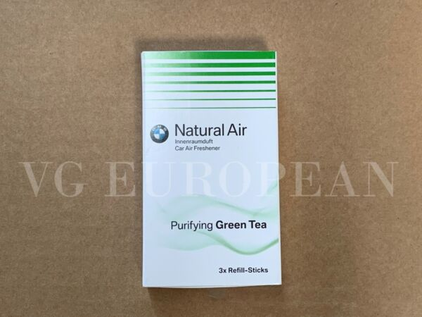 BMW Genuine Natural Air Air Freshener Purifying Green Tea Refill Set of 3 NEW $16.89