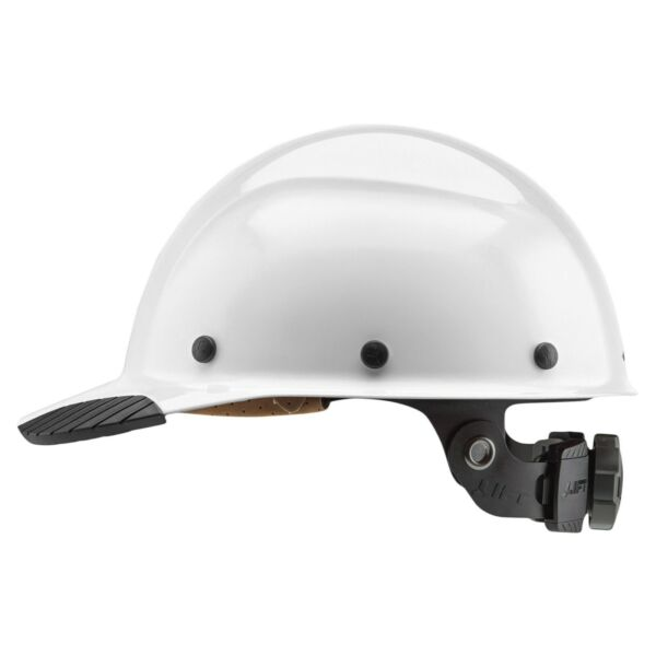 NEW LIFT SAFETY HDFC 17WG DAX CAP STYLE WHITE HARD HAT w RATCHET SUSPENSION $82.22