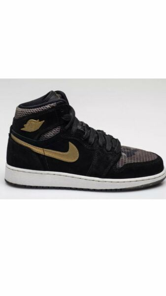 Air Jordan 1 Retro High Premium HC (Size 7Y) Camo Gold Heiress Rare (WMN's 8.5)