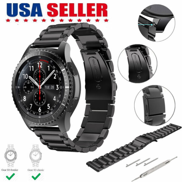 Stainless Steel Strap Watch Band For Samsung Galaxy Gear S3 FrontierClassic