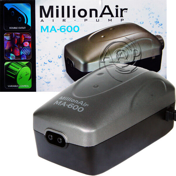 Million Air 600 Aquarium Adjustable Air Pump by Via Aqua from AAP $24.99