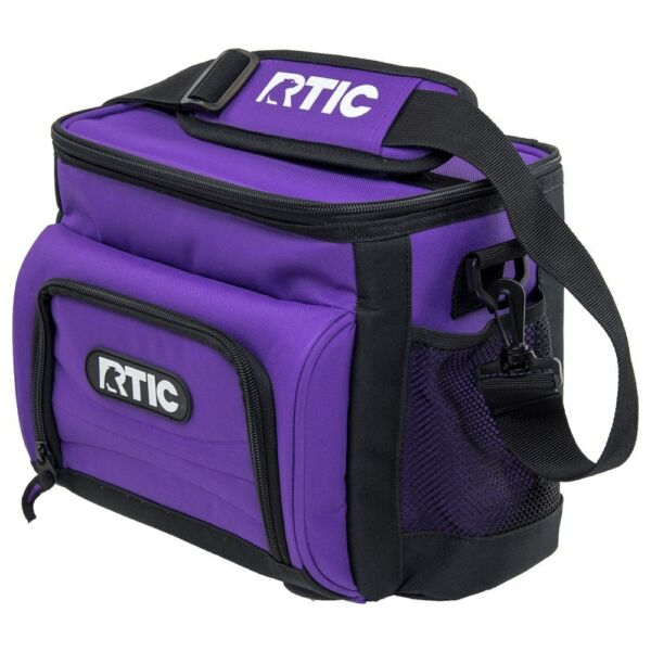 NEW RTIC Day Cooler 8 Can Lunch Box Ice Foam Insulated Bag PURPLE