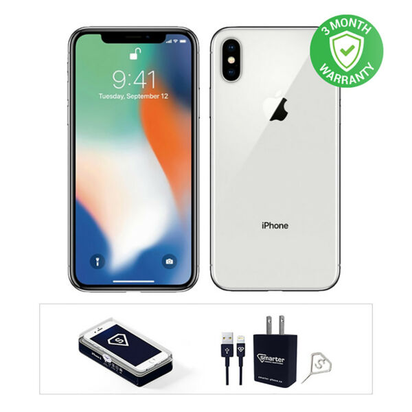 Apple iPhone X | 64GB | Silver | LTE CDMA/GSM | Unlocked | Excellent Condition