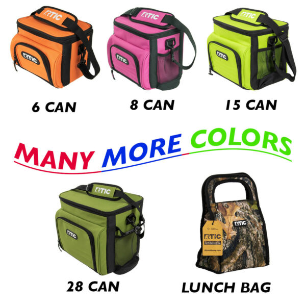 NEW RTIC Soft Day Cooler 6 8 15 28 Can Lunch Bag Box Insulated MANY COLORS