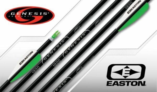 GENESIS EASTON ARROWS WITH FLETCHING AND POINTS 1 2 DZ $43.00