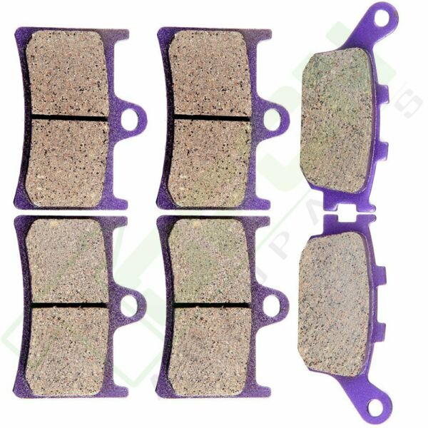 Front Rear Carbon fiber Brake Pads 2005 2014 2013 For YAMAHA YZF R6 $13.98