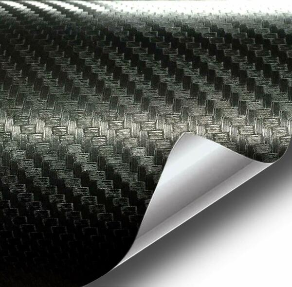 Black Carbon Fiber Car Wrap Vinyl Roll Featuring Air Release Technology New $14.98