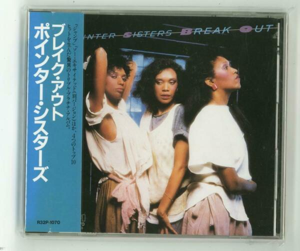 THE POINTER SISTERS Break Out CD JAPAN 1986 1ST PRESS NEW SEALED R32P-1070 s6649