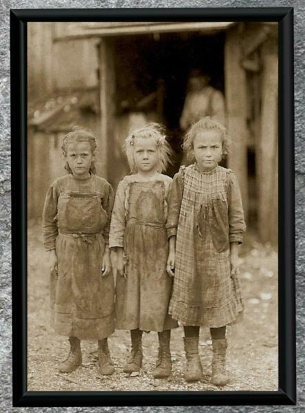 Remarkable... Depession Era Girls  Dirty 30's ... Antique 5x7 Photo Print