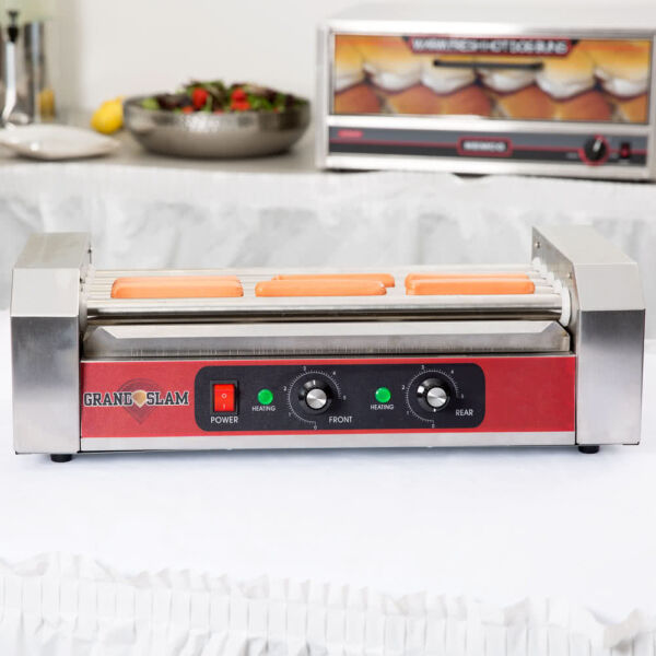 12 Hot Dog Stainless Steel Concession Stand Electric Roller Grill with 5 Rollers $105.00