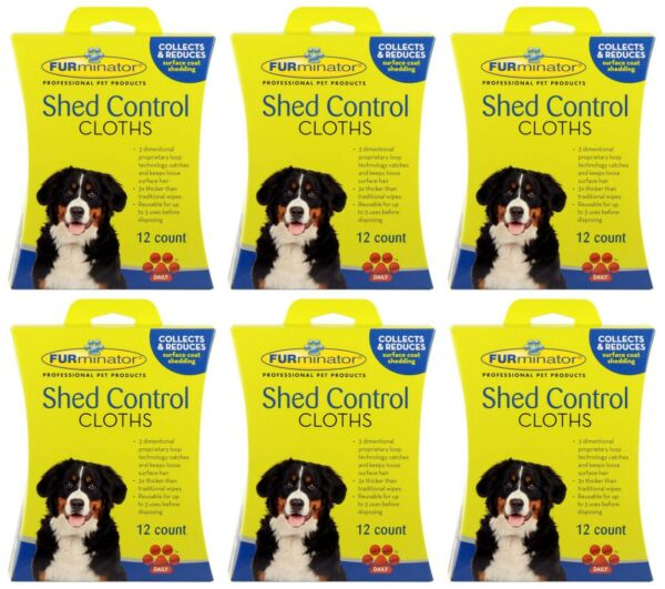 NEW 72 COUNT FURminator Dog Shed Control Cloths Removes Loose Hair amp; Cleans Coat $39.99