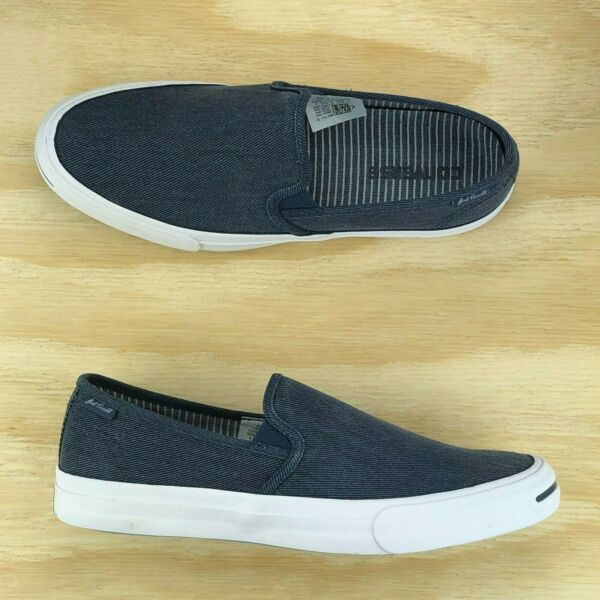 Converse Jack Purcell II JP Navy Blue White Slip On Casual Shoes 153036C Size