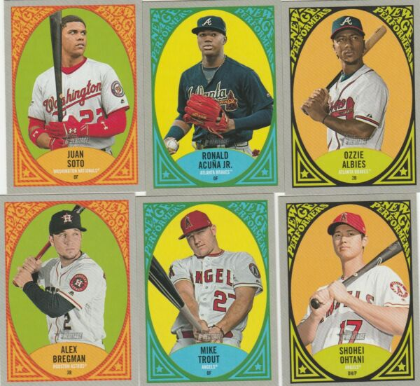 2019 HERITAGE BASEBALL NEW AGE PERFORMERS INSERT U-PICK COMPLETE YOUR SET