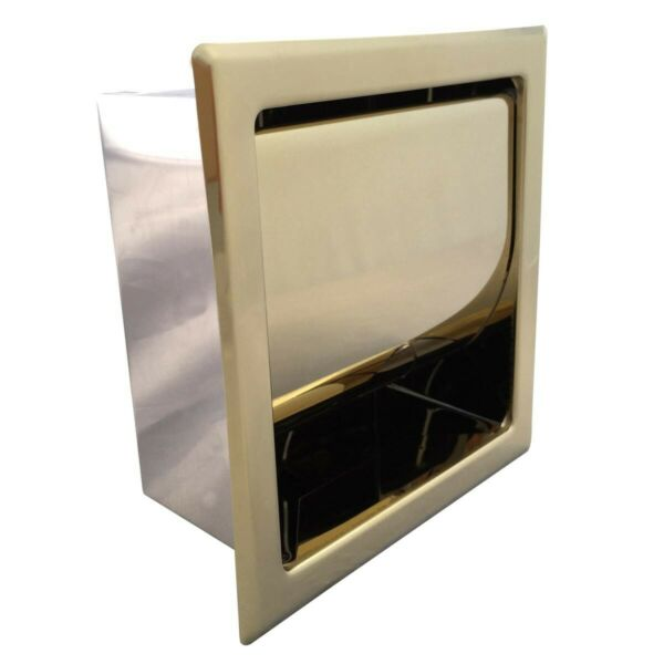 Recessed Toilet Paper Tissue Holder Gold Stainless Steel | Renovator's Supply