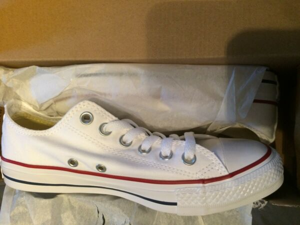 Converse All Star Chuck Taylor Canvas Shoes Low Top M7652 White Men 5 / Women 7