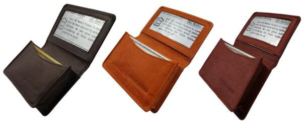AG Wallets Mens Premium Leather Business and Credit Card Holder Wallet