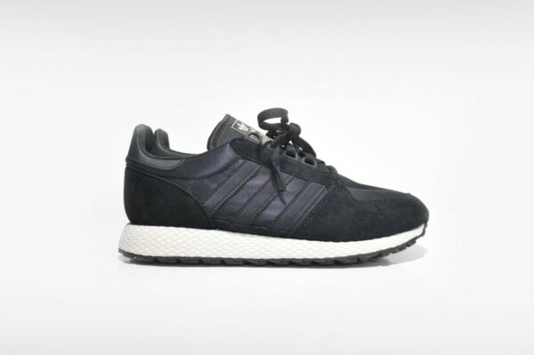 adidas Forest Grove Men's Retro Running Shoes Suede Core Black B37960 NIB