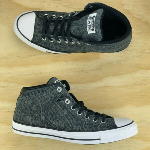 Converse Chuck Taylor All Star High Street Black White Grey Shoes 161515F Size