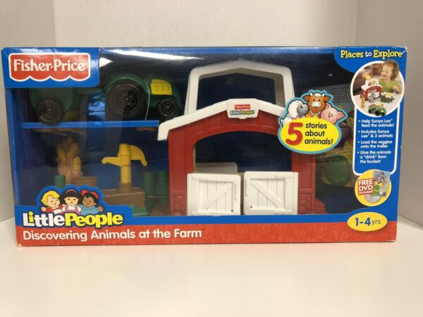 Fisher Price Little People Discovering Animals At The Farm Free DVD Included 5 A