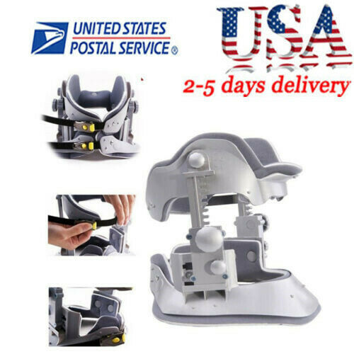 【USA】Medical Cervical Vertebra Tractor Traction Support Brace Neck Pain Relief +