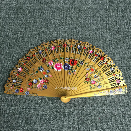 Hand Painted Wood Fans Custom Dance Fans Spanish Style Fans Wedding Gift $22.21