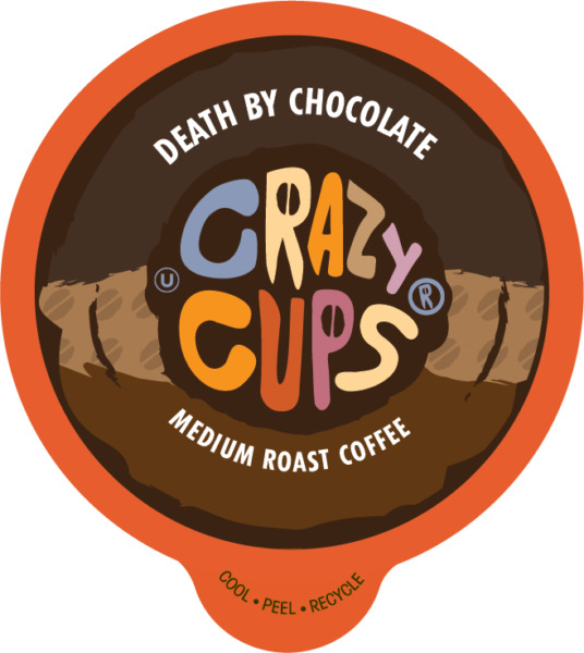 Crazy Cups Death By Chocolate Coffee Pods 22 or 80ct For Keurig K cup machines