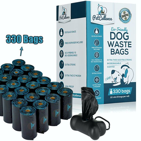 PetCellence Biodegradable Dog Poo Bags 330 660 Poop Waste Bags Roll Eco Friendly GBP 12.67