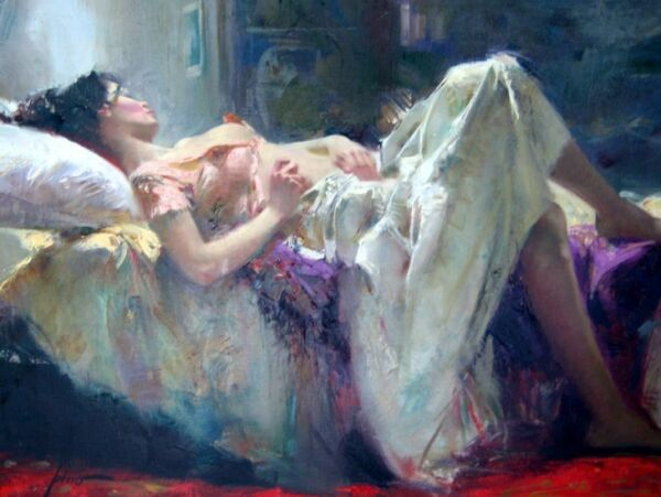 PINO DAENI - CAPTIVE HEART 30x40 - ORIGINAL OIL CANVAS PAINTING - OFFERS WELCOME