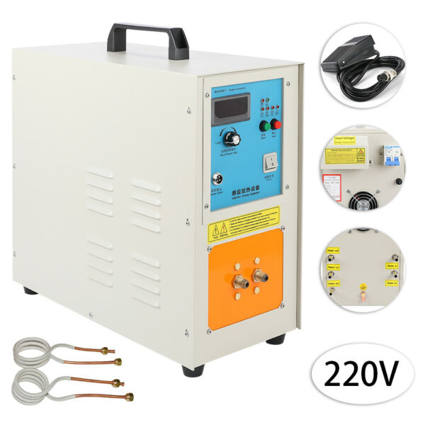 15KW 30-100 KHz High Frequency Induction Heater Furnace 2200 ℃ (3992 ℉) 220V New