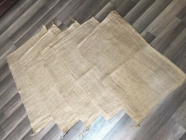 5 27x16 BURLAP SACKS GUNNY FEED BAGS TOW JUTE SACK PRODUCE BAG