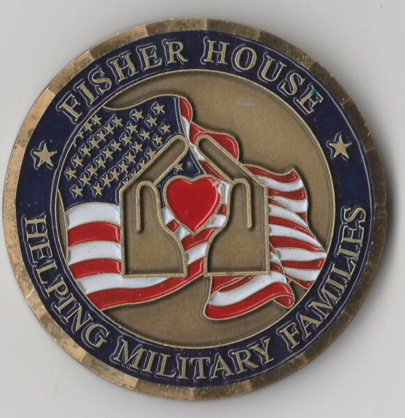 Darnall Fisher House Fort Hood Texas Challenge Coin 2 quot; DIA C 1 $29.95